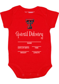 Texas Tech Red Raiders Baby Red Special Delivery One Piece