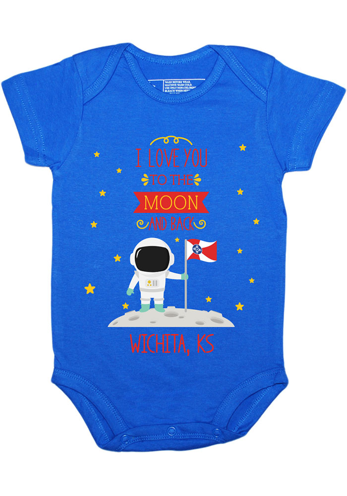 Wichita Baby Blue To the Moon and Back Short Sleeve One Piece - Image 1