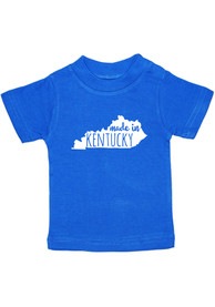 Kentucky Toddler Blue Made In Short Sleeve T Shirt