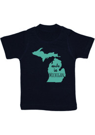 Michigan Toddler Navy Blue Made In Short Sleeve T Shirt