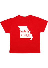 Missouri Toddler Red Made In Short Sleeve T Shirt