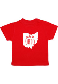 Ohio Toddler Red Made In Short Sleeve T Shirt