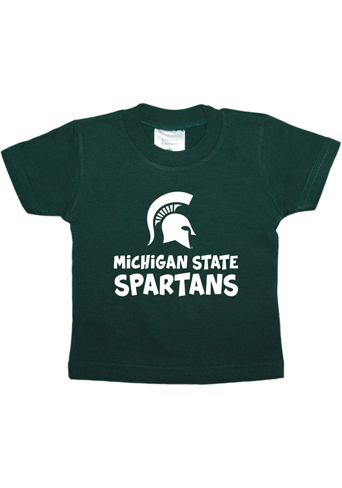 Michigan State Spartans Infant Playful Short Sleeve T-Shirt Green - Image 1