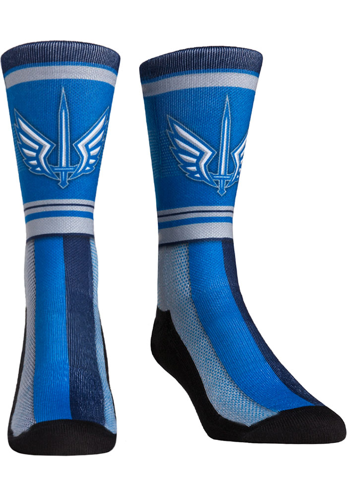 St Louis Battlehawks XFL 2020 Team Stripe Mens Crew Socks - Image 1