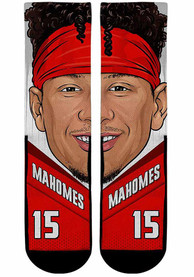 Patrick Mahomes Kansas City Chiefs Youth Game Face Quarter Socks - Red