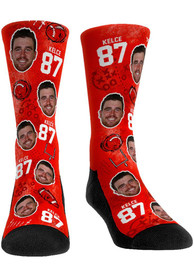 Travis Kelce Kansas City Chiefs Youth Player Quarter Socks - Red