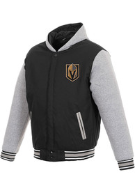 Vegas Golden Knights Black Reversible Hooded Heavyweight Jacket