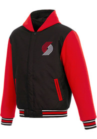 Portland Trail Blazers Black Reversible Hooded Heavyweight Jacket