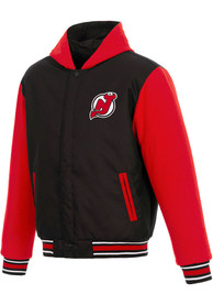 New Jersey Devils Reversible Hooded Heavyweight Jacket - Black