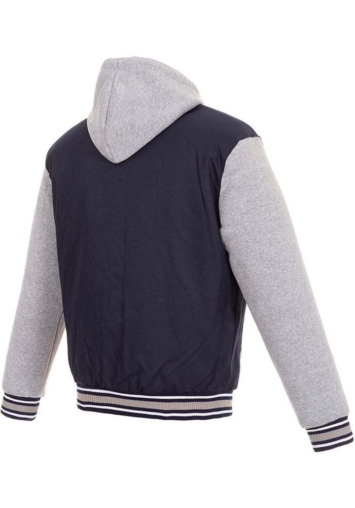Vancouver Canucks Mens Navy Blue Reversible Hooded Heavyweight Jacket - Image 2