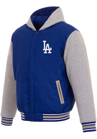 Los Angeles Dodgers Reversible Hooded Heavyweight Jacket - Blue