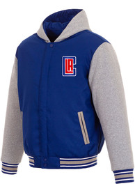 Los Angeles Clippers Reversible Hooded Heavyweight Jacket - Blue