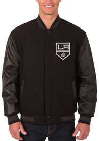 Los Angeles Kings Black Reversible Wool Leather Heavyweight Jacket