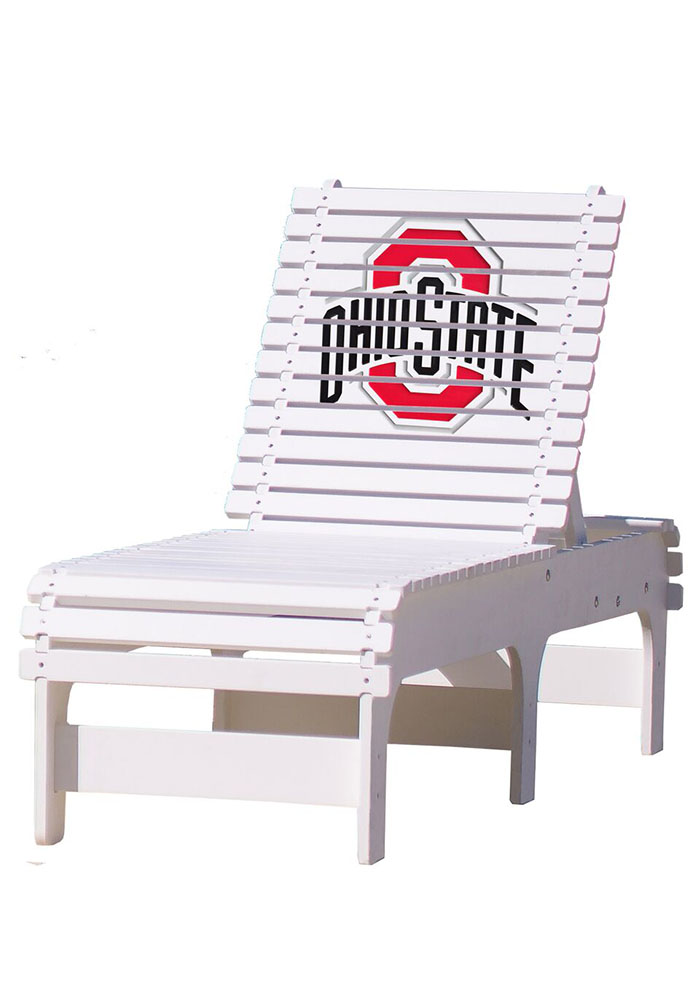 Ohio State Buckeyes Chaise Lounge Beach Chairs - Image 1