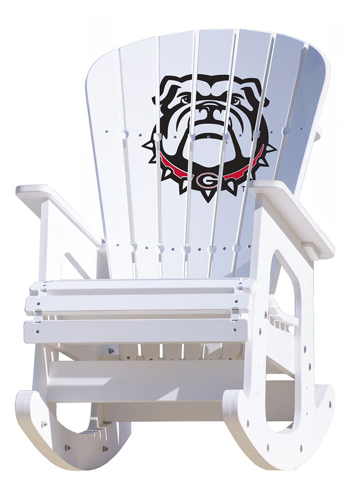 Cool Georgia Bulldogs Rocking Beach Chairs 3690057 Gmtry Best Dining Table And Chair Ideas Images Gmtryco