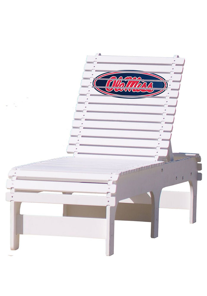 Ole Miss Rebels Chaise Lounge Beach Chairs - Image 1