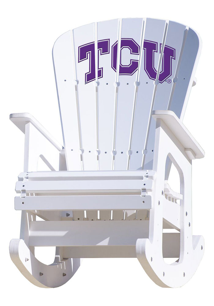 Tcu Horned Frogs Rocking Beach Chairs Image 1