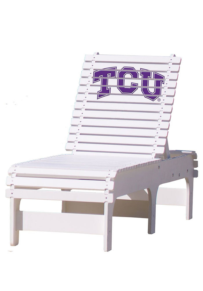 TCU Horned Frogs Chaise Lounge Beach Chairs - Image 1