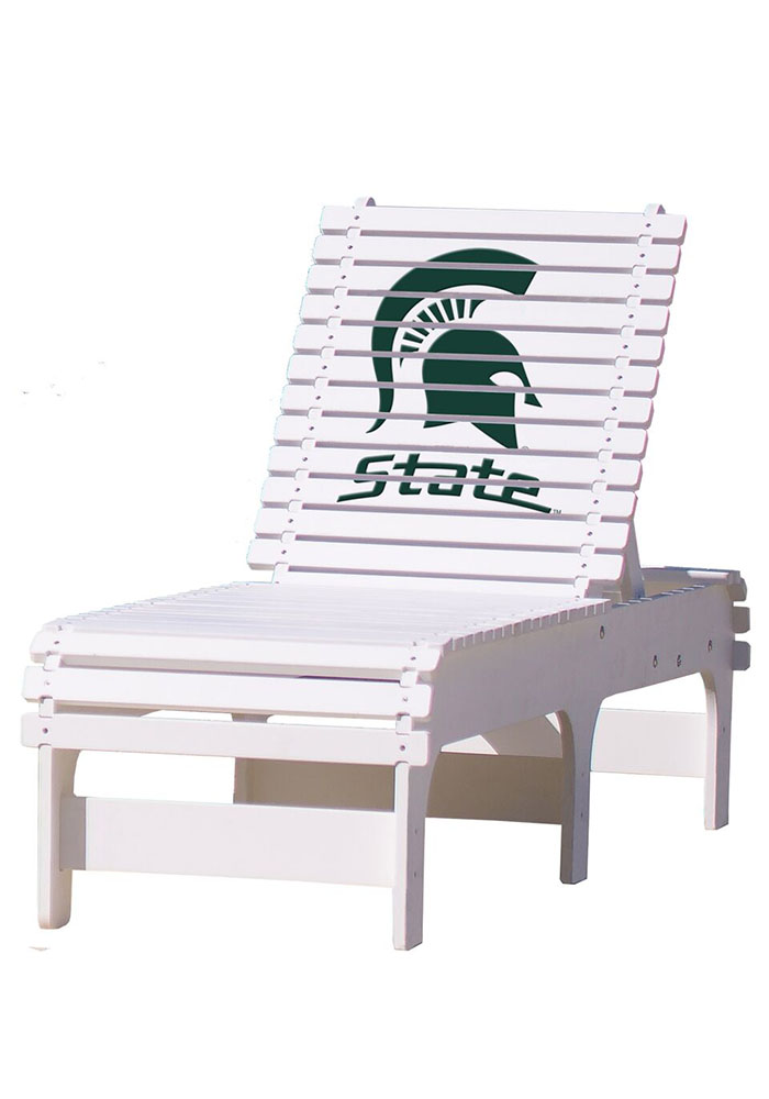 Michigan State Spartans Chaise Lounge Beach Chairs - Image 1