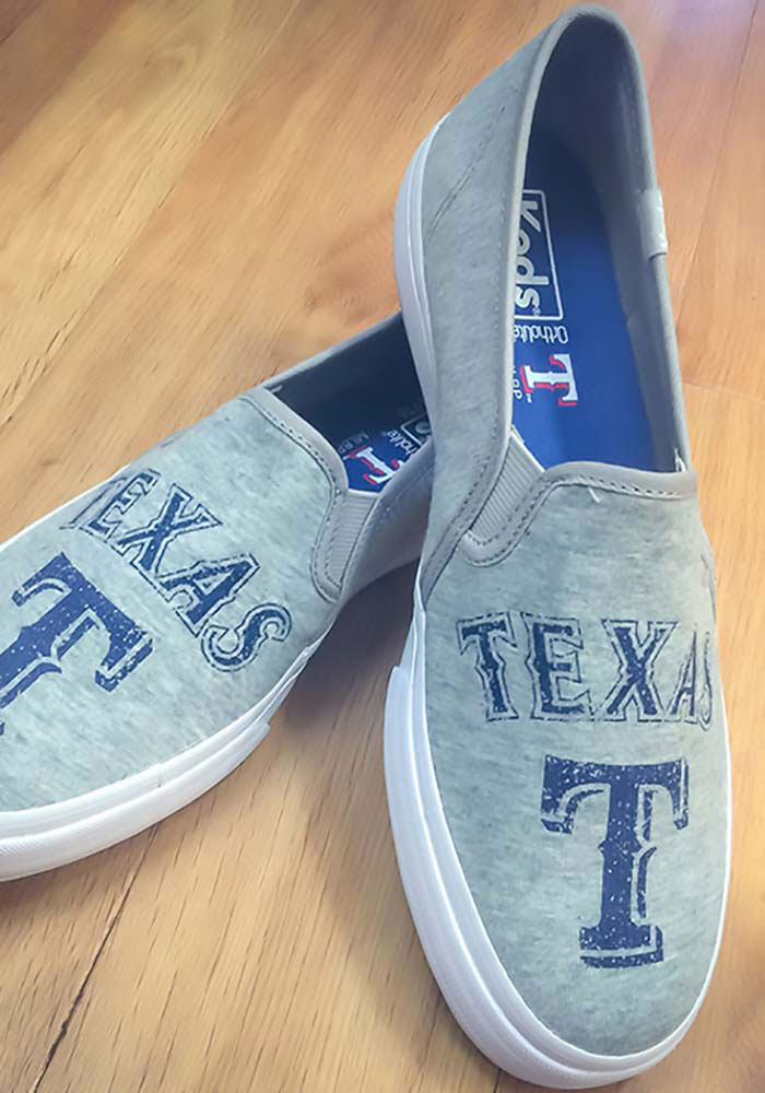 Texas Rangers Grey Keds Double Decker Womens Shoes - Image 4