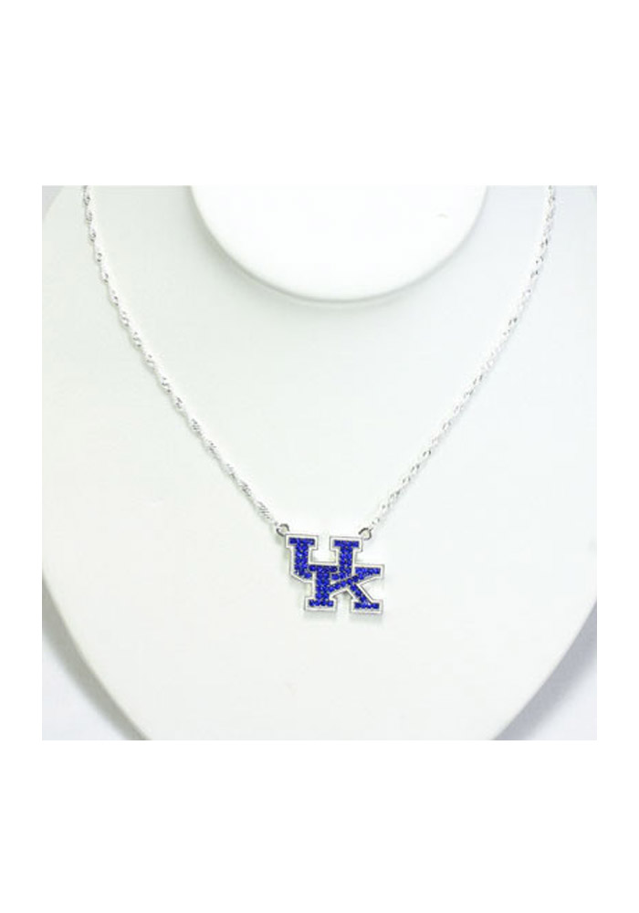 Kentucky Wildcats Crystal Logo Necklace - Image 1