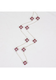 Texas A&M Aggies Womens Long Quatrefoil Necklace - Maroon