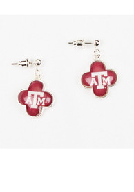 Texas A&M Aggies Quatrefoil Studs Womens Earrings