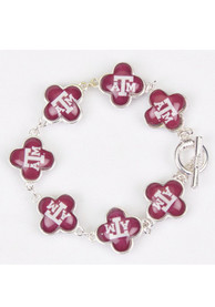 Texas A&M Aggies Quatrefoil Toggle Clasp Womens Bracelet