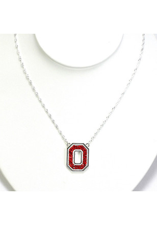 Ohio State Buckeyes Bling Necklace