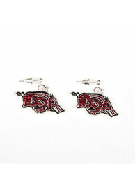 Arkansas Razorbacks Womens Bling Earrings - Red