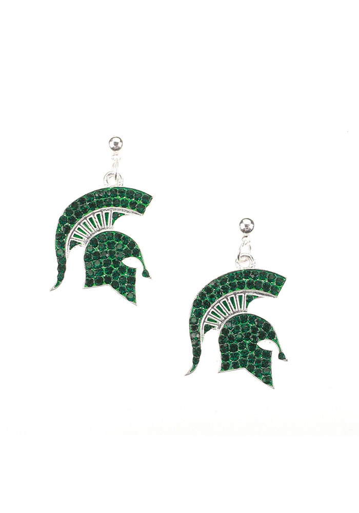 Michigan State Spartans Bling Womens Earrings - Image 1