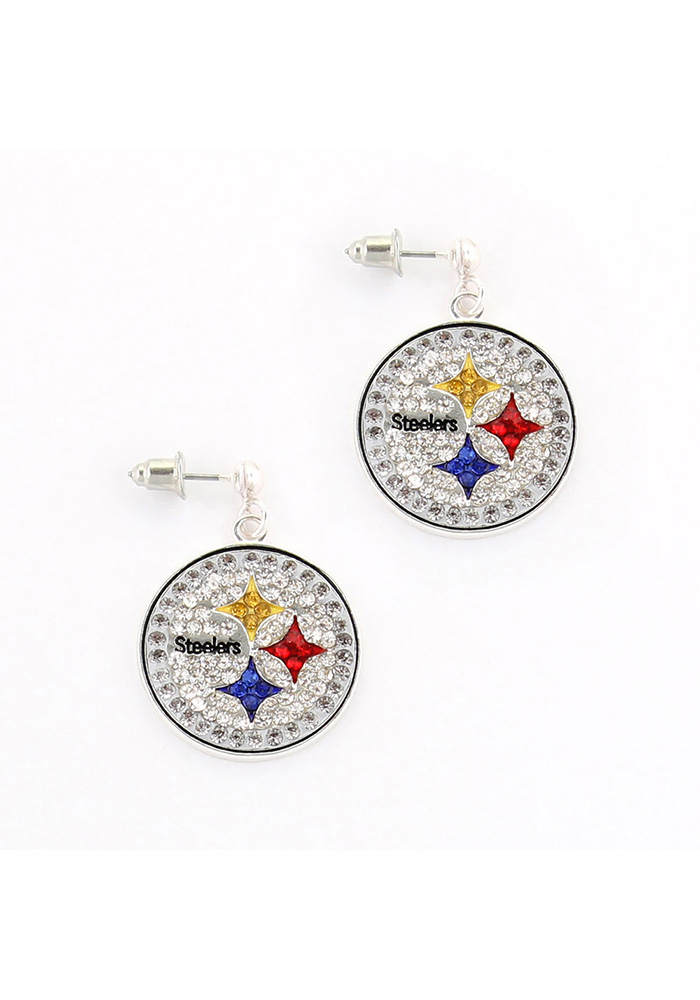 Pittsburgh Steelers Bling Womens Earrings - Image 1