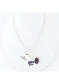 K-State Wildcats Trio Necklace