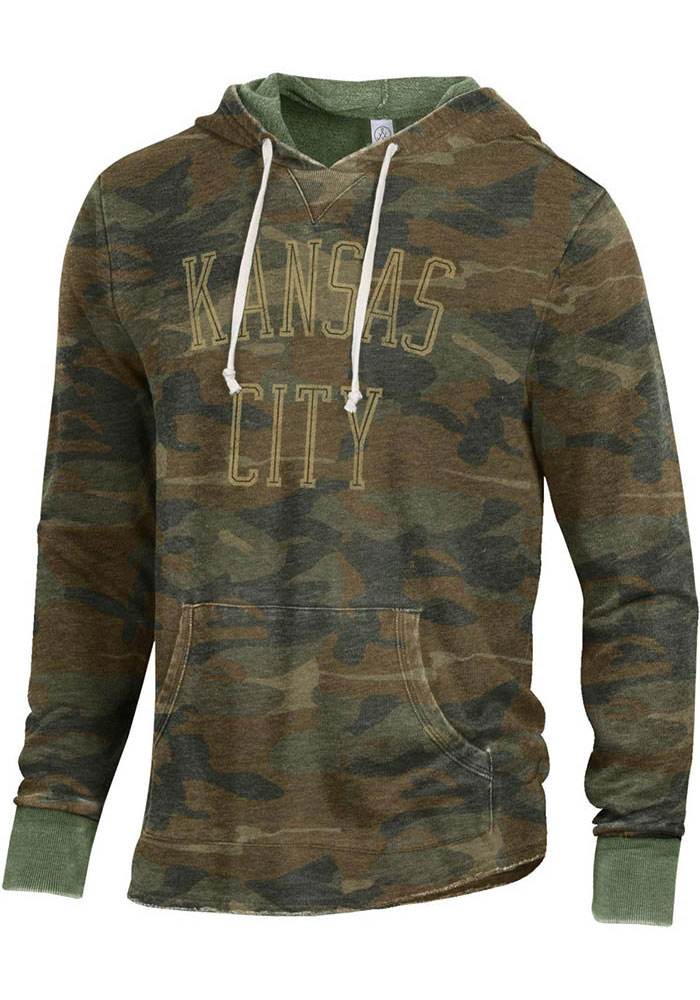 Alternative Apparel Kansas City Camo Long Sleeve Hood Sweatshirt - Image 1