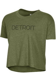 Alternative Apparel Detroit Women's Vintage Pine Disconnected Cropped Short Sleeve T-Shirt