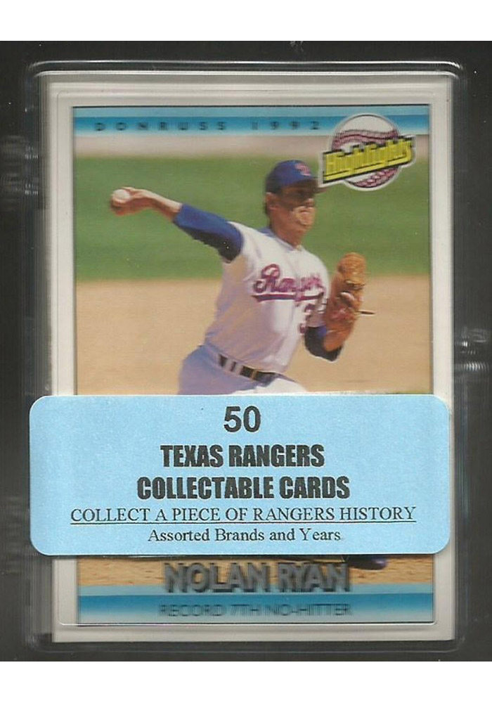 Texas Rangers 50 Pack Collectible Baseball Cards - Image 1