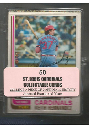 St Louis Cardinals 50 Pack Collectible Baseball Cards