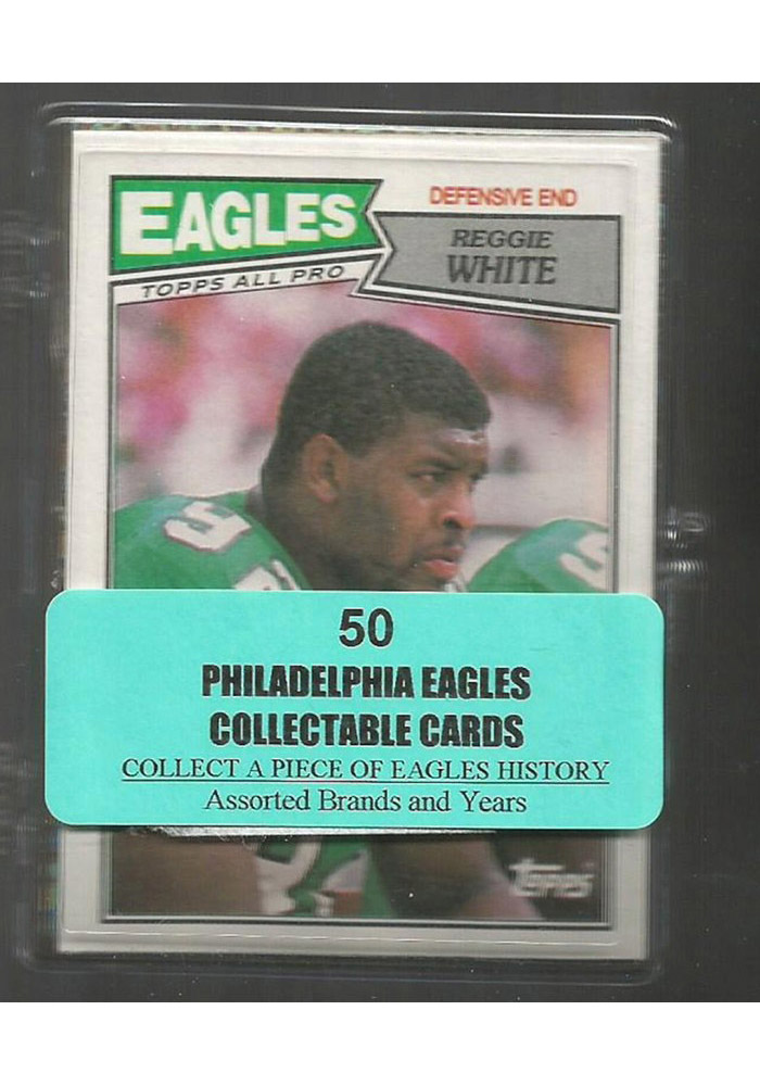 Philadelphia Eagles 50 Pack Collectible Football Cards - Image 1