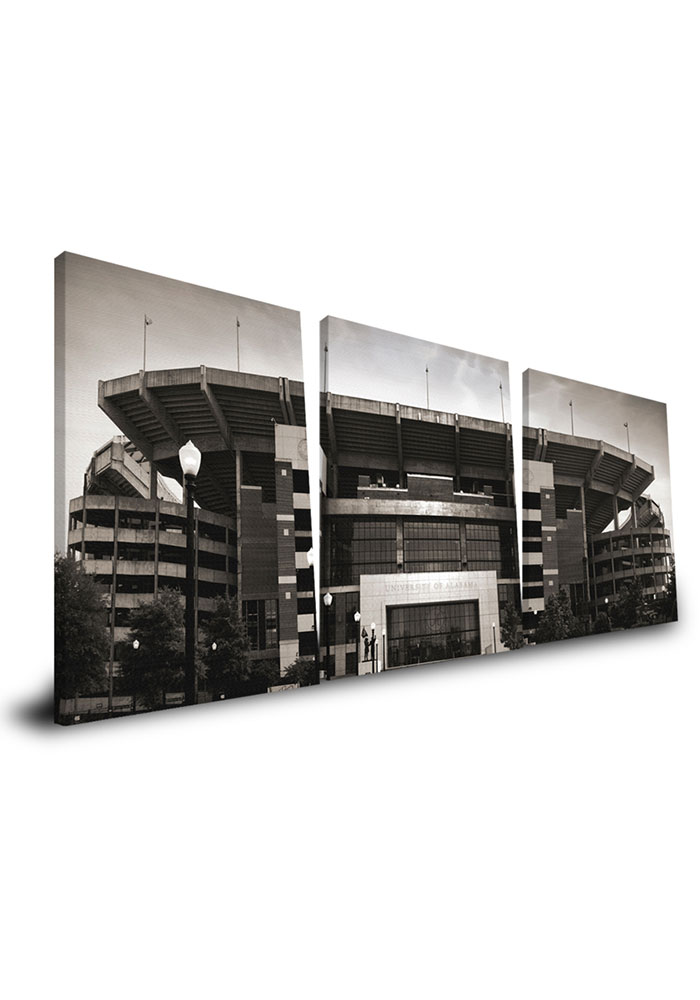 Alabama Crimson Tide Stadium 24x48 Canvas Print Wall Art - Image 1
