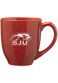 Saint Josephs Hawks 16oz Bistro Speckled Mug