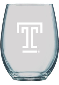 Temple Owls 21 OZ Logo Engraved Stemless Wine Glass
