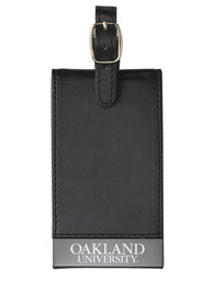 Oakland University Golden Grizzlies Black Team logo Luggage Tag