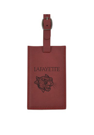 Lafayette College Maroon Velour Luggage Tag