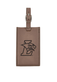 Lehigh University Brown Velour Luggage Tag