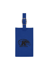 Kent State Golden Flashes Blue Velour Luggage Tag