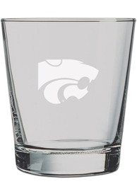 K-State Wildcats 13oz Logo Engraved Rock Glass