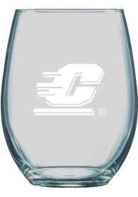 Central Michigan Chippewas 21oz Logo Engraved Stemless Wine Glass