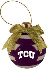 TCU Horned Frogs Ceramic Bulb Ornament Ornament