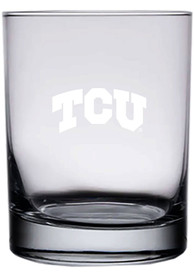 TCU Horned Frogs 14oz Etched Rock Glass