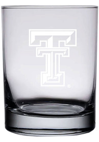 Texas Tech Red Raiders 14oz Etched Rock Glass